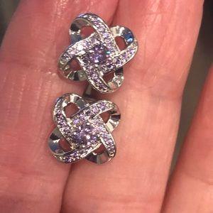 Purple Fashion Gemstone Earrings.